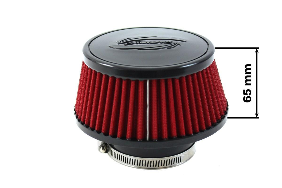 Filtr stożkowy SIMOTA JAU-X02101-20 60-77mm Red - GRUBYGARAGE - Sklep Tuningowy